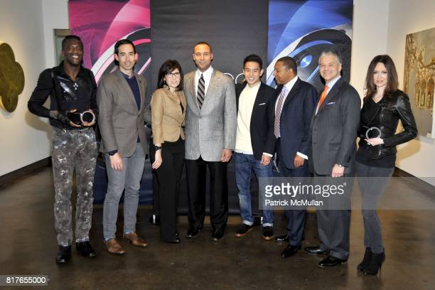 Sergi Q Will Varner Mary Leach Derek Jeter Eugene Tong Wynton Marsalis Efraim Grinberg and Katie Cole attend MOVADO Presents The Night Of Discovery...