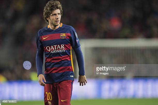 Sergi Roberto Carnicer of FC Barcelona during the Champions League match between FC Barcelona and AS Roma on November 24 2015 at the Camp Nou stadium...