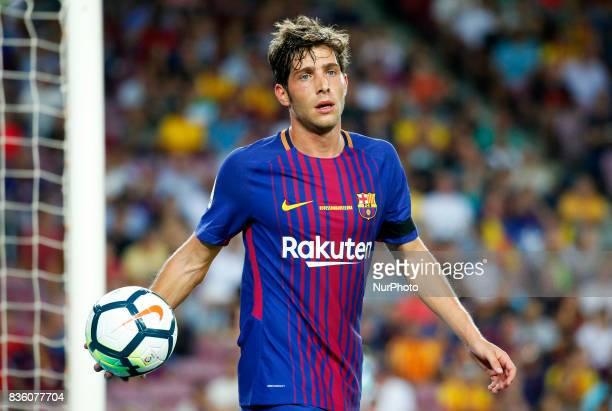 Sergi Roberto during La Liga match between FC Barcelona v Real Betis Balompie in Barcelona on August 20 2017 hoto Joan Valls/Urbanandsport/Nurphoto