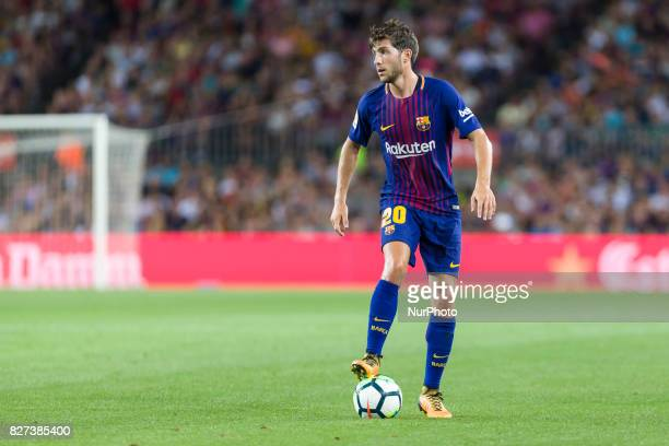 Sergi Roberto during the match between FC Barcelona vs Chapecoense for the Joan Gamper trophy played at Camp Nou Stadium on 7th August 2017 in...