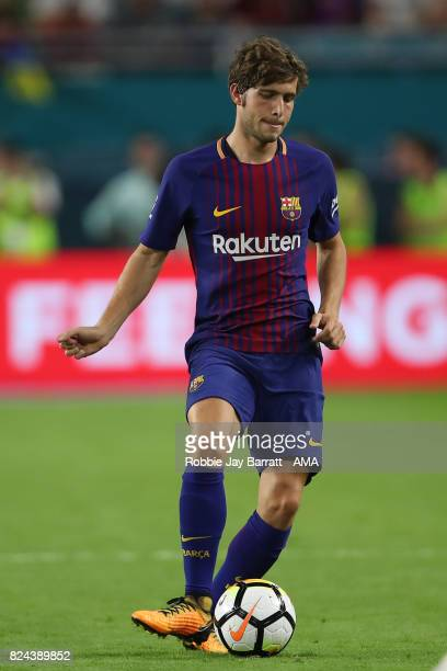 Sergi Roberto of FC Barcelona during the International Champions Cup 2017 match between Real Madrid and FC Barcelona at Hard Rock Stadium on July 29...
