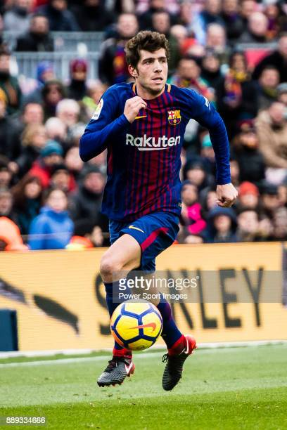 Sergi Roberto of FC Barcelona in action during the La Liga 201718 match between FC Barcelona and RC Celta de Vigo at Camp Nou Stadium on 02 December...