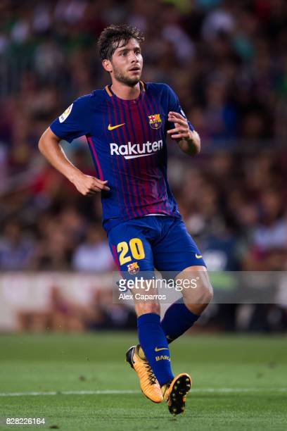 Sergi Roberto of runs during the Joan Gamper Trophy match between FC Barcelona and Chapecoense at Camp Nou stadium on August 7 2017 in Barcelona Spain