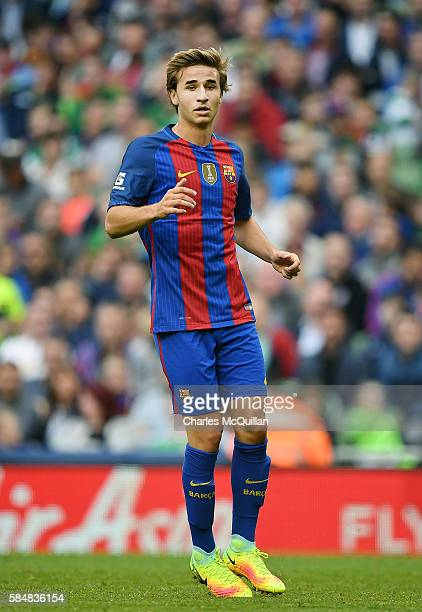 Sergi Samper of Barcelona during the International Champions Cup series match between Barcelona and Celtic at Aviva Stadium on July 30 2016 in Dublin...