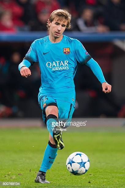 Sergi Samper of FC Barcelona during the UEFA Champions League match between Bayer 04 Leverkusen and FC Barcelona on December 9 2015 at the BayArena...