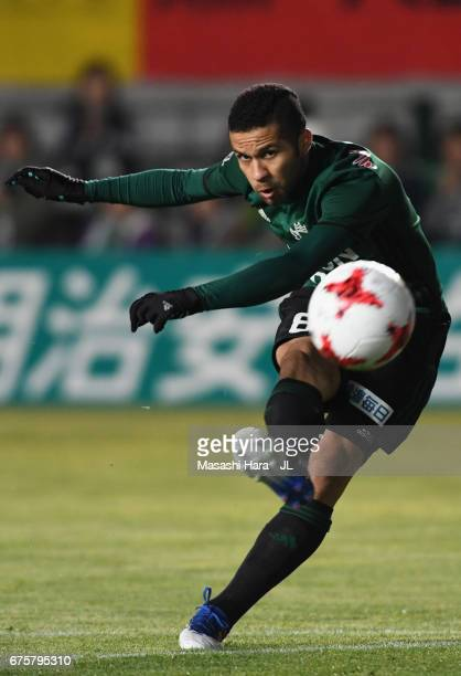 Serginho of Matsumoto Yamaga in action during the JLeague J2 match between Matsumoto Yamaga and Kamatamare Sanuki at Matsumotodaira Park Stadium on...