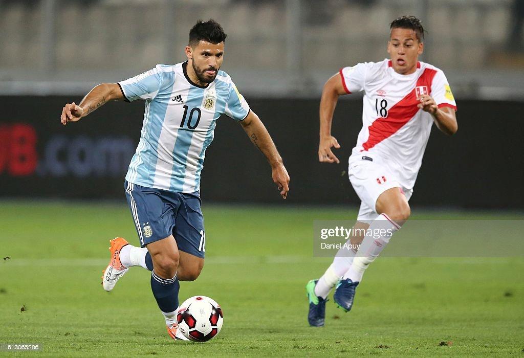 Sergio Aguero Argentina vs Peru