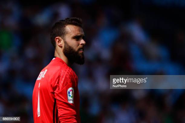 Sergio Alvarez goalkeeper of Celta de Vigo during the La Liga Santander match between Celta de Vigo and Real Sociedad de Futbol at Balaidos Stadium...