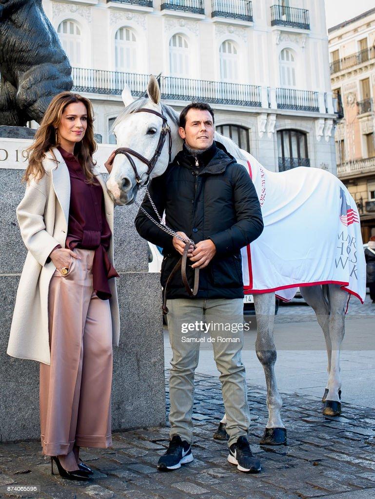 Sergio Alvarez Moya and Mar Saura during Madrid Horse Week 2017 Presentation on November 14, 2017 in Madrid, Spain.