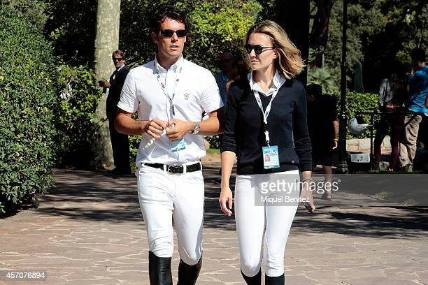 Sergio Alvarez Moya and Marta Ortega Perez are seen at the 'CSIO Barcelona 2014 103rd International Show' held at the Real Club de Polo de Barcelona...
