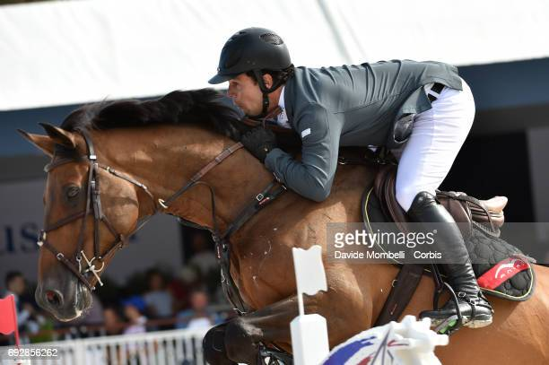 Sergio Alvarez Moya of Spain riding Charmeur during the Longines Grand Prix Athina Onassis Horse Show on June 3 2017 in St Tropez France