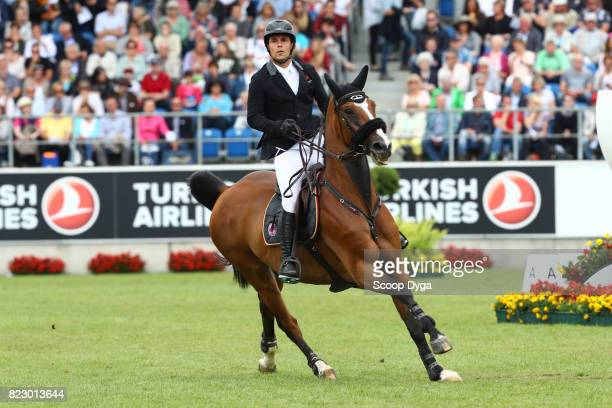 Sergio ALVAREZ MOYA riding G C ARRAYAN during the Rolex Grand Prix part of the Rolex Grand Slam of Show Jumping of the World Equestrian Festival on...