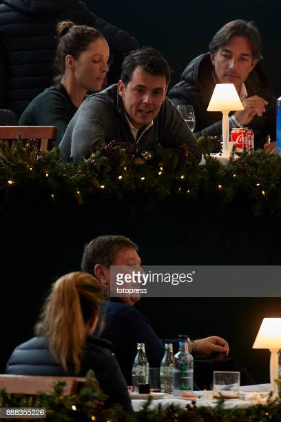 Sergio Alvarez Moya talks with Athinas Onassis during CSI Casas Novas Horse Jumping Competition on December 8 2017 in A Coruna Spain