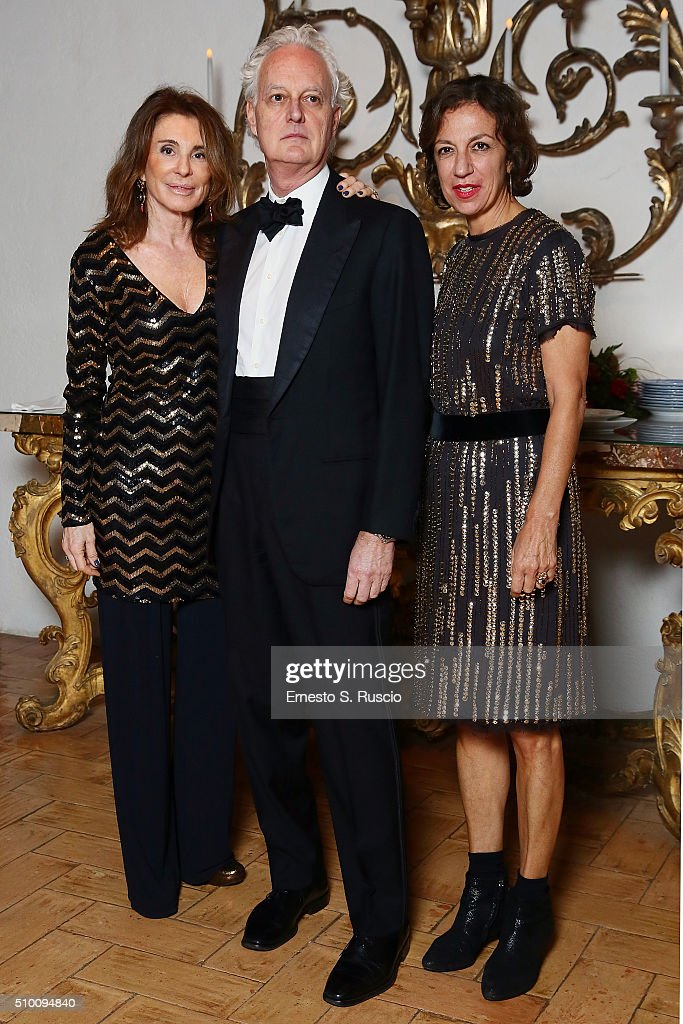 Sergio Barbanti (C) attends Roberto Scio' birthday Party at La Posta Vecchia on February 13, 2016 in Paolo Laziale, near Rome, Italy.
