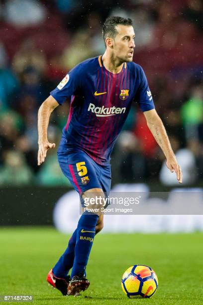 Sergio Busquets Burgos of FC Barcelona in action during the La Liga 201718 match between FC Barcelona and Sevilla FC at Camp Nou on November 04 2017...