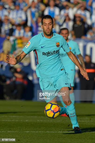 Sergio Busquets during the match between CD Leganes vs FC Barcelona week 12 of La Liga at Butarque stadium Leganes Madrid Spain on 18th November of...