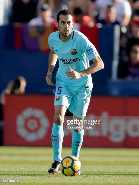 Sergio Busquets of FC Barcelona during the Spanish Primera Division match between Leganes v FC Barcelona at the Estadio Municipal de Butarque on...