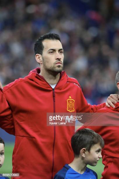 Sergio Busquets of Spaincduring the Friendly game between France and Spain at Stade de France on march 28 2017 in Paris France