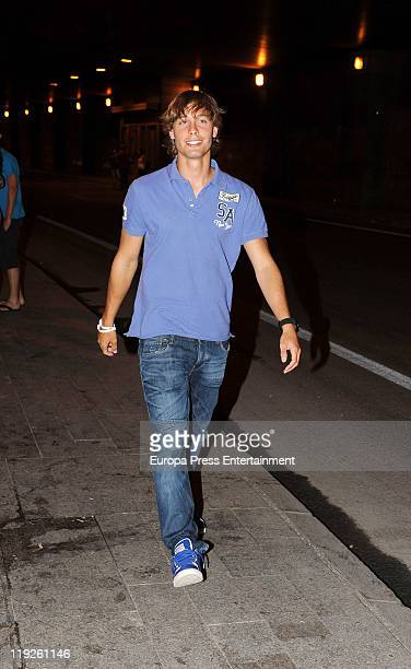 Sergio Canales attends Black Eyes Peas concert at Vicente Calderon Stadium on July 14 2011 in Madrid Spain