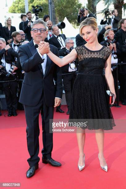 Sergio Castellitto and actress Jasmine Trinca attend the 'Based On A True Story' screening during the 70th annual Cannes Film Festival at Palais des...