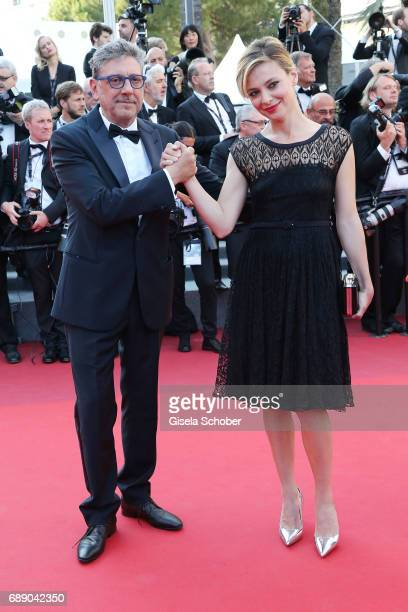Sergio Castellitto and Jasmine Trinca attend the 'Based On A True Story' screening during the 70th annual Cannes Film Festival at Palais des...