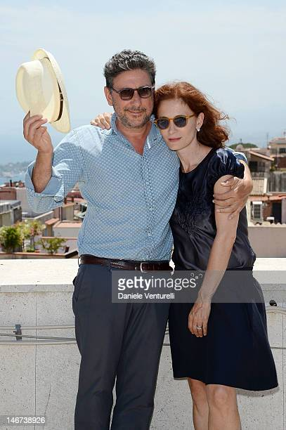 Sergio Castellitto and Margaret Mazzantini attend the Day 1 during the 58th Taormina Film Fest on June 23 2012 in Taormina Italy