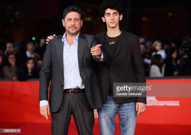 Sergio Castellitto and Pietro Castellitto attend the 'Giuseppe Tornatore Ogni Film Un'Opera Prima' Premiere during the 7th Rome Film Festival at the...
