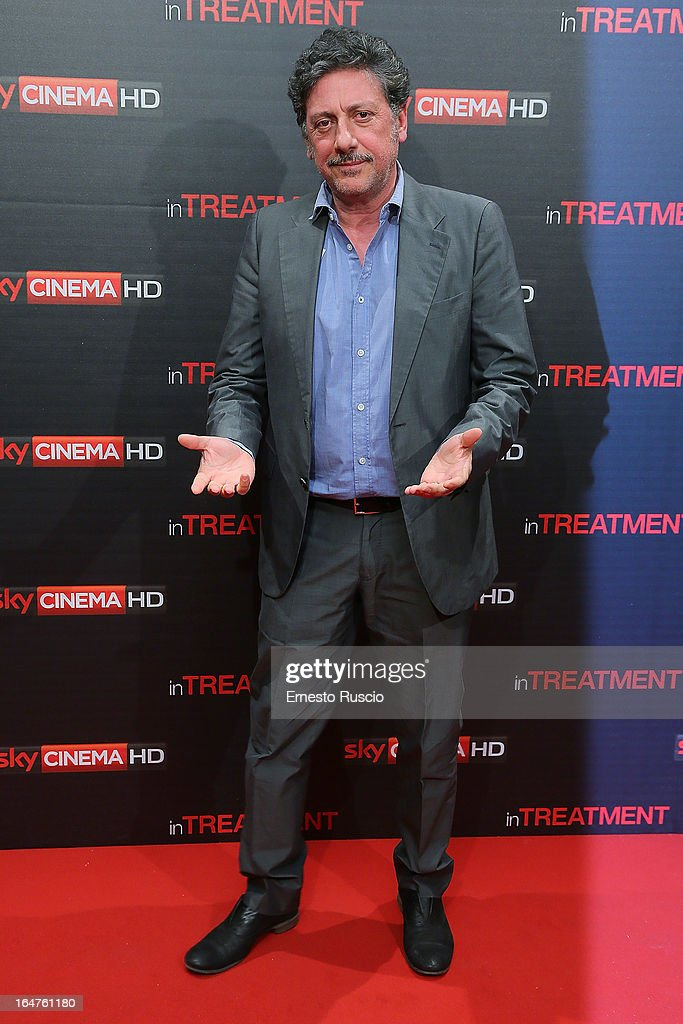 Sergio Castellitto attends the 'In Treatment' premiere at Teatro Capranica on March 27, 2013 in Rome, Italy.