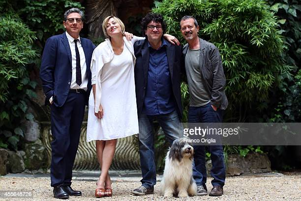 Sergio Castellitto Valeria Bruni Tedeschi director Daniele Cipri and Rocco Papaleo attend 'La Buca' photocall at the 4 Fontane garden on September 18...