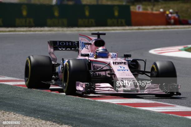 Sergio Checo Perez team Force India during the Formula One Qualifying GP of Spain 2017 celebrated at Circuit Barcelona Catalunuya on 13th May 2017 in...