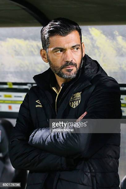 Sergio Conceicao headcoach of Nantes during the French Ligue 1 match between Angers and Nantes on December 16 2016 in Angers France