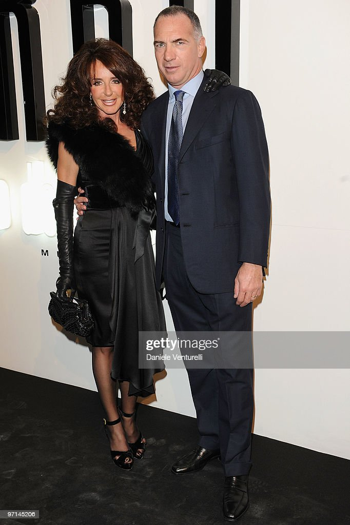 Sergio Dompe and his wife Gabriella attend 'Greta Garbo. The Mystery Of Style' opening exhibition during Milan Fashion Week Womenswear A/W 2010 on February 27, 2010 in Milan, Italy.