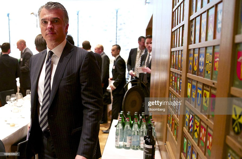 Sergio Ermotti, chief executive officer of UBS AG, arrives prior to his keynote address at the Swiss-American Chamber of Commerce in Zurich, Switzerland, on Wednesday, March 13, 2013. Ermotti said U.S. regulations are a 'potential competitive disincentive for international groups.' Photographer: Gianluca Colla/Bloomberg via Getty Images
