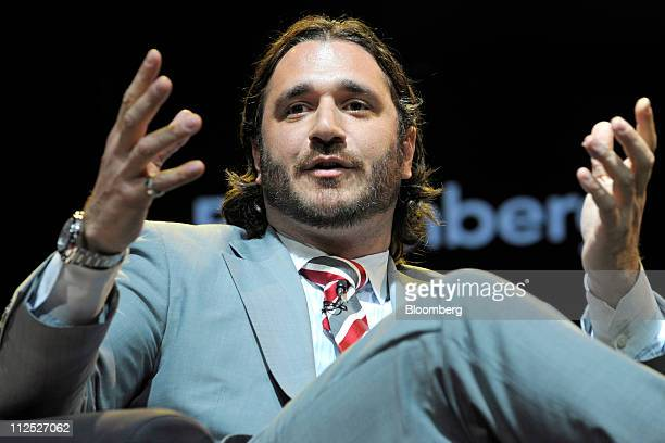 Sergio Fernandez de Cordova founder of Fuel Outdoor speaks at Bloomberg Link Empowered Entrepreneur Summit in New York US on Thursday April 14 2011...