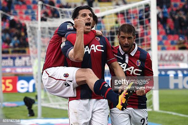 Sergio Floccari of Bologna FC celebrates after scoring his team's second goal during the Serie A match between Bologna FC and Genoa CFC at Stadio...