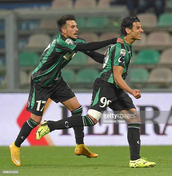 Sergio Floccari of Sassuolo celebrates after scoring the goal 21 during the Serie A match between US Sassuolo Calcio and Empoli FC at Mapei Stadium...