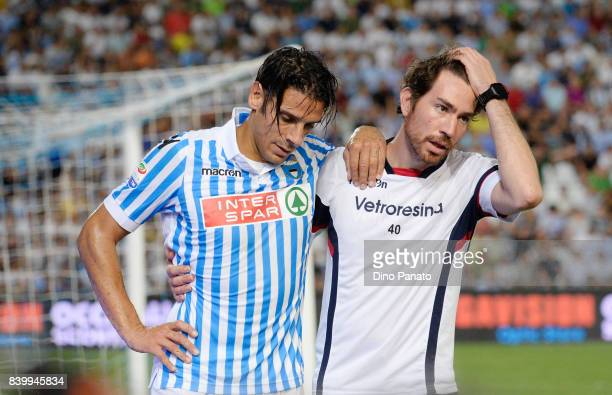 Sergio Floccari of Spal injured during the Serie A match between Spal and Udinese Calcio at Stadio Paolo Mazza on August 27 2017 in Ferrara Italy