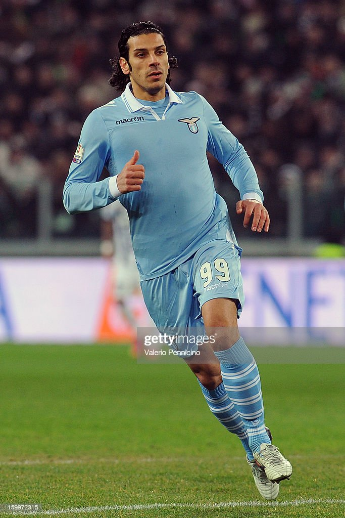 Sergio Floccari of S.S. Lazio in action during the TIM cup match between Juventus FC and S.S. Lazio at Juventus Arena on January 22, 2013 in Turin, Italy.