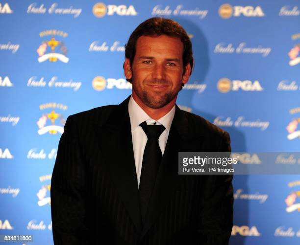 Sergio Garcia arrives for the Ryder Cup Gala at The Kentucky Centre Louisville USA