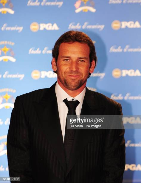 Sergio Garcia arrive's for the Ryder Cup Gala at The Kentucky Centre Louisville USA