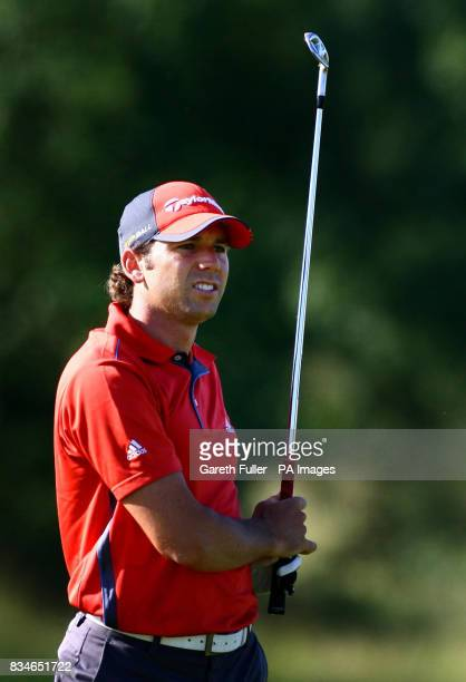 Sergio Garcia in action on the 10th fairway during the second round of the European Open at The London Golf Club Ash Kent