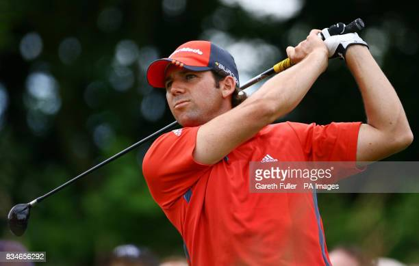 Sergio Garcia in action on the 16th tee during the European Open at The London Golf Club Ash Kent