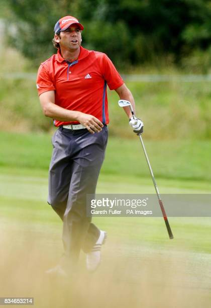 Sergio Garcia in action on the 8th fairway during the second round of the European Open at The London Golf Club Ash Kent