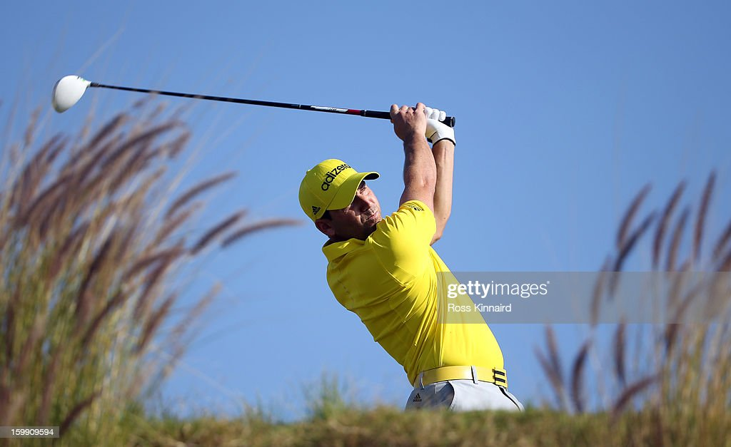 Sergio Garcia of Spain during the first round of the Commercial Bank Qatar Masters at The Doha Golf Club on January 23, 2013 in Doha, Qatar.