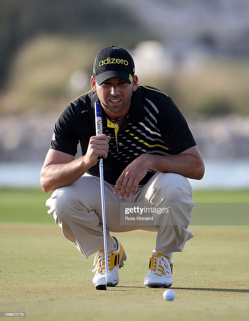 Sergio Garcia of Spain during the second round of the Commercial Bank Qatar Masters at The Doha Golf Club on January 24, 2013 in Doha, Qatar.