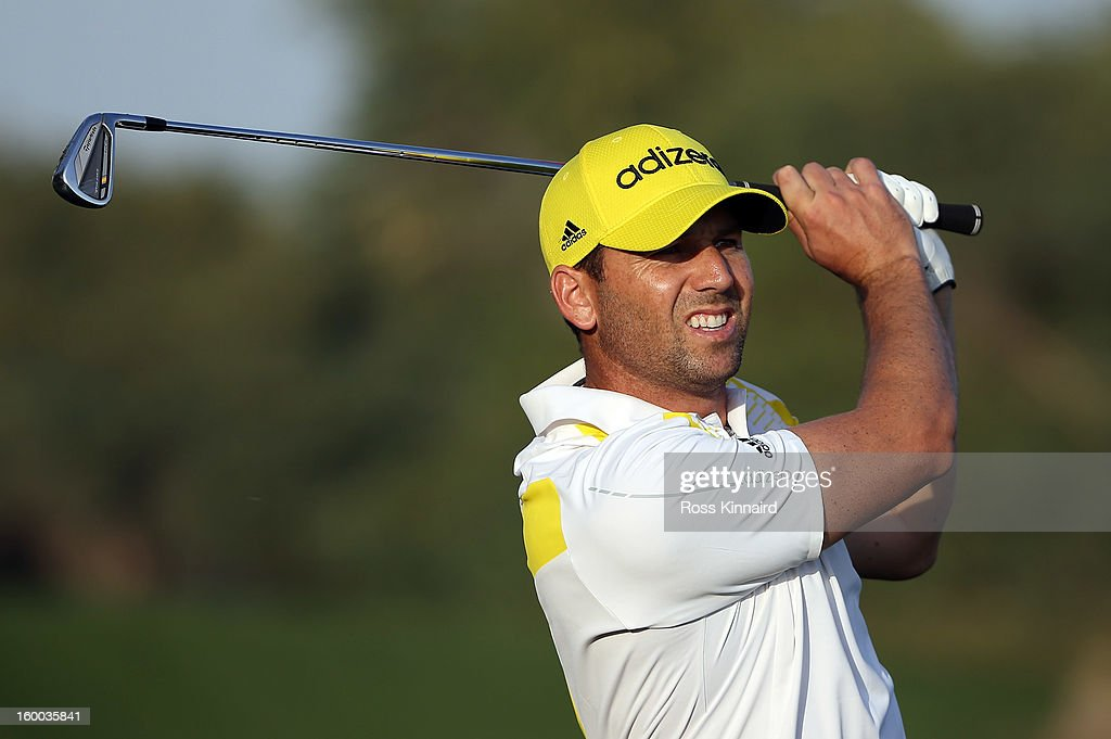 Sergio Garcia of Spain during the third round of the Commercial Bank Qatar Masters at The Doha Golf Club on January 25, 2013 in Doha, Qatar.