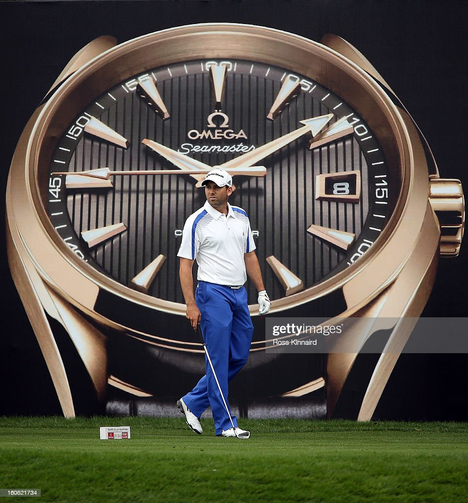 Sergio Garcia of Spain during the third round of the Omega Dubai Desert Classic on February 2, 2013 in Dubai, United Arab Emirates.