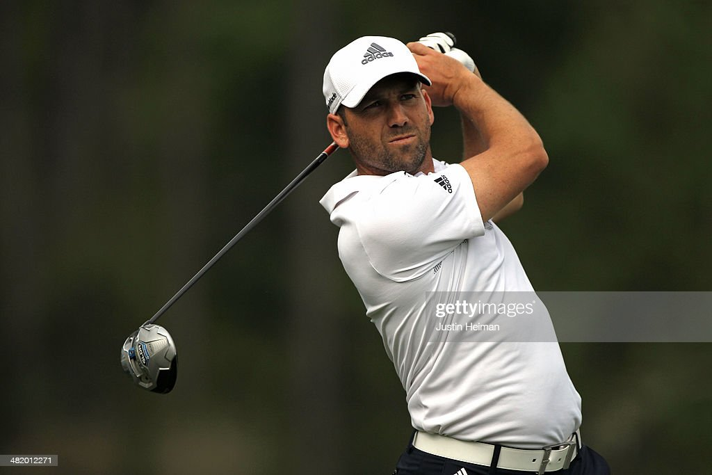 Sergio Garcia of Spain hits a shot during the pro-am prior to the start of the Shell Houston Open at the Golf Club of Houston on April 2, 2014 in Humble, Texas.