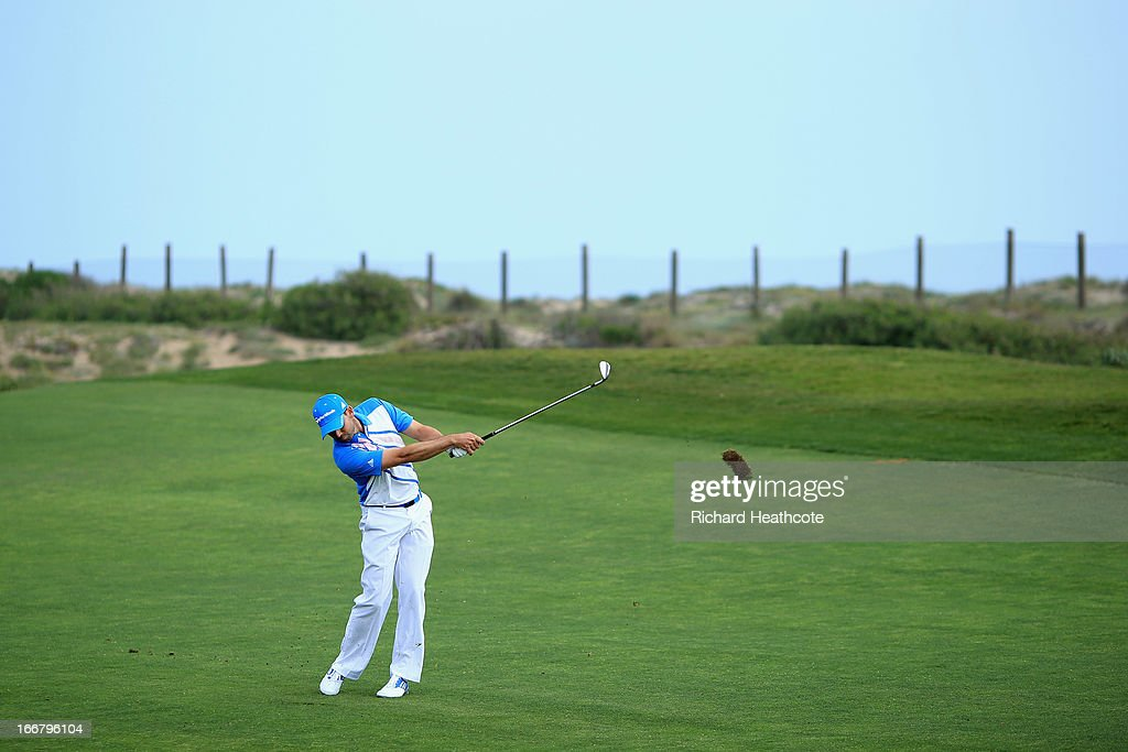 Sergio Garcia of Spain in action during the pro-am for the Open de Espana at Parador de El Saler on April 17, 2013 in Valencia, Spain.