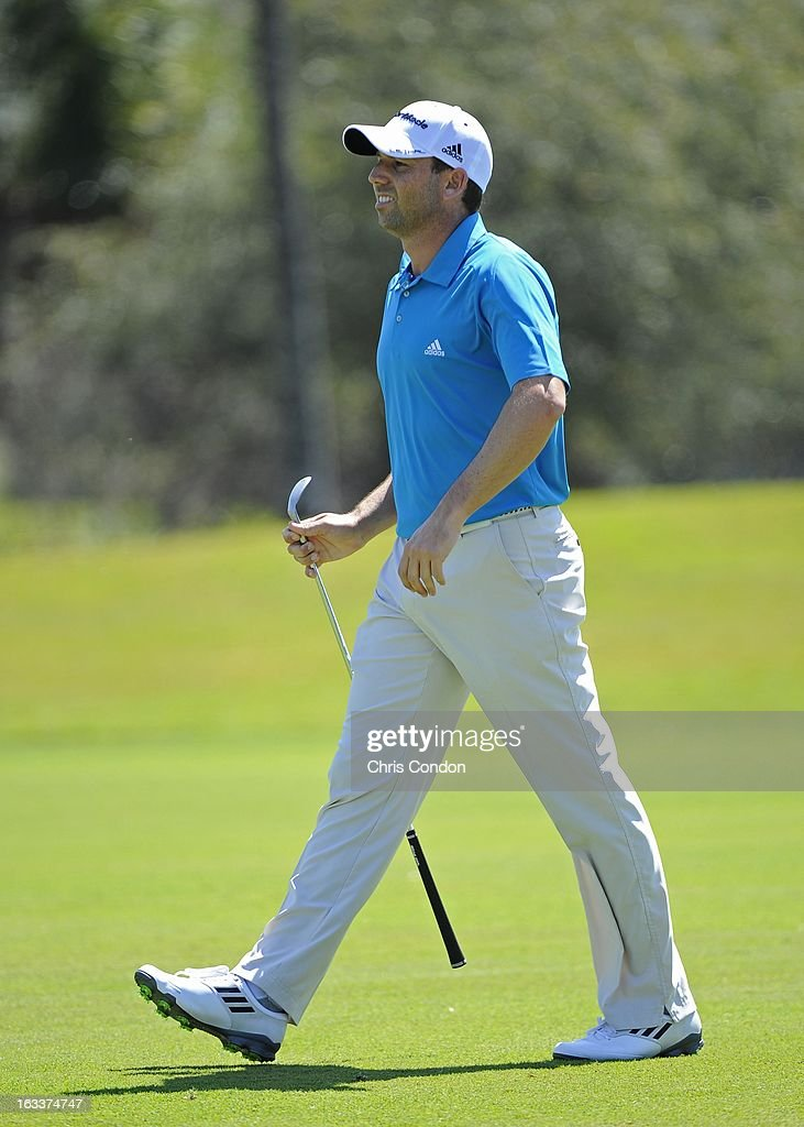Sergio Garcia of Spain on the 12th hole during the second round of the World Golf Championships-Cadillac Championship at TPC Blue Monster at Doral on March 8, 2013 in Doral, Florida.